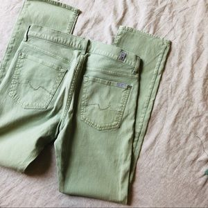 7 For All Mankind•Green Jeans